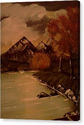Autumn  Day  Canvas Print by Renee McKnight