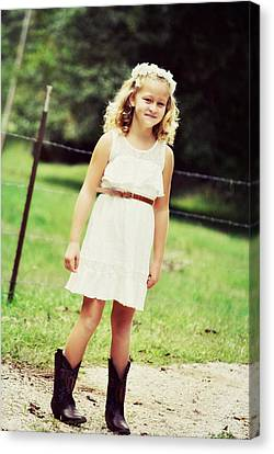 Autumn Days And Cowgirl Boots Canvas Print