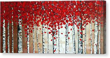 Stretched Cotton Canvas Print - Autumn by Denisa Laura Doltu
