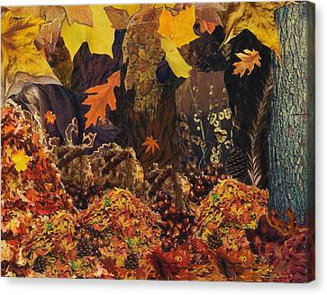 Reds Of Autumn Canvas Print - Autumn by Denise Mazzocco