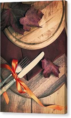 Autumn Dining Canvas Print by Amanda Elwell