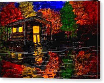Autumn Evening Canvas Print by Larry E  Lamb