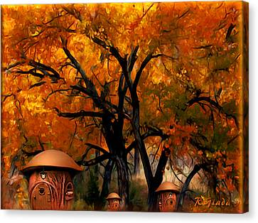 Autumn Fairies Resort Canvas Print