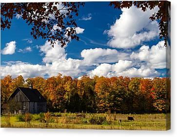 Autumn Farm Canvas Print by Chuck De La Rosa