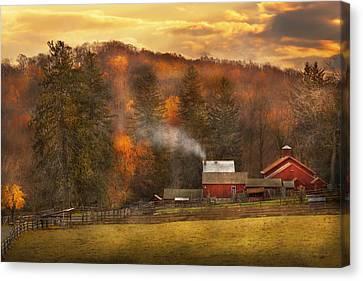 Autumn - Farm - Morristown Nj - Charming Farming Canvas Print by Mike Savad