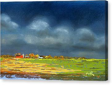 Autumn Farm Canvas Print by William Renzulli