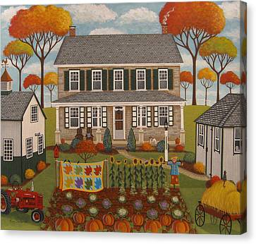 Autumn Farmhouse Canvas Print
