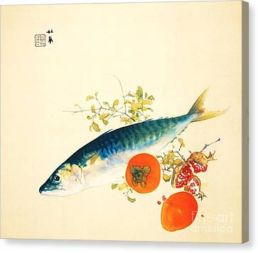 Autumn Fattens Fish And Ripens Fruit Canvas Print by Pg Reproductions