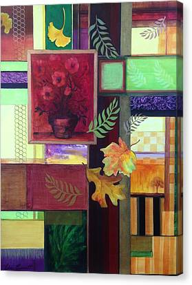 Autumn Faux Collage  Canvas Print