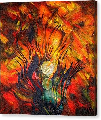Autumn Fire By Nico Bielow Canvas Print