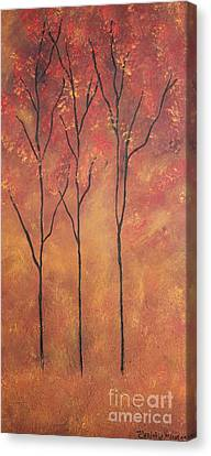 Canvas Print featuring the painting Autumn Fire by Christie Minalga