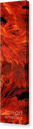 Autumn Fire Pano 2 Vertical Canvas Print by Andee Design