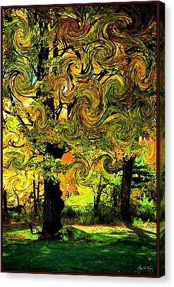 Canvas Print featuring the photograph Autumn Firestorm by Wayne King