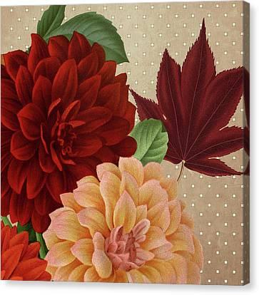 Autumn Flare Square 2 Canvas Print