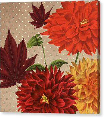 Red Leaf Canvas Print - Autumn Flare Square 3 by Gail Fraser