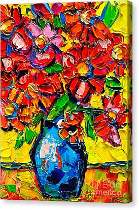 Autumn Flowers 7 Canvas Print by Ana Maria Edulescu