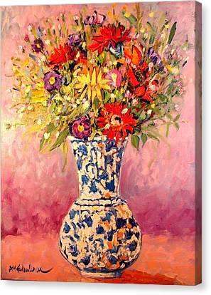 Autumn Flowers Canvas Print by Ana Maria Edulescu