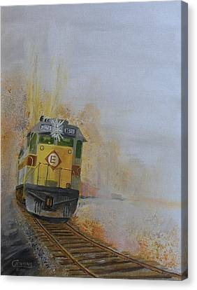 Autumn Fog Canvas Print by Christopher Jenkins