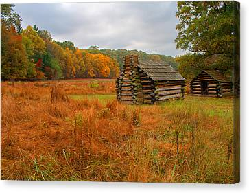 Autumn Foliage In Valley Forge Canvas Print by Michael Porchik