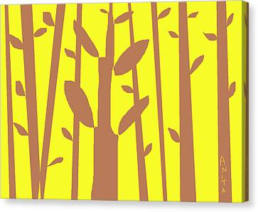 Autumn Forest Canvas Print by Anita Dale Livaditis