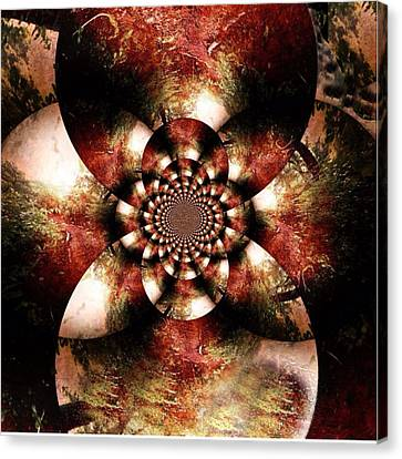 Autumn Fractal Abstract Canvas Print by Maggie Vlazny