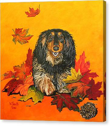 Autumn Fun Canvas Print by Wendy Shoults