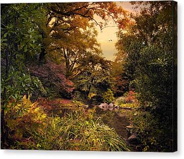 Autumn Garden Sunset Canvas Print by Jessica Jenney