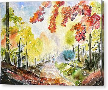Autumn Canvas Print by Geeta Biswas