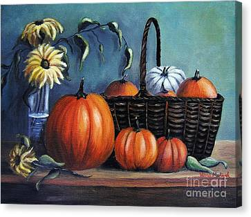 Canvas Print featuring the painting Autumn Gifts by Vesna Martinjak