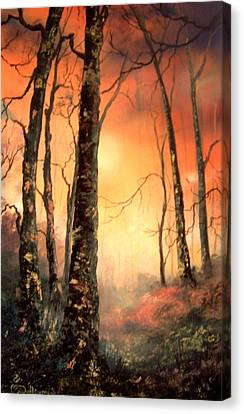 Cannock Chase Canvas Print - Autumn Glow by Jean Walker