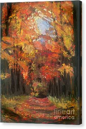 Autumn Glow Canvas Print by Mary Lynne Powers