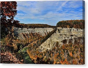 Autumn Gorge Canvas Print