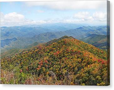 Autumn Great Smoky Mountains Canvas Print by Melinda Fawver