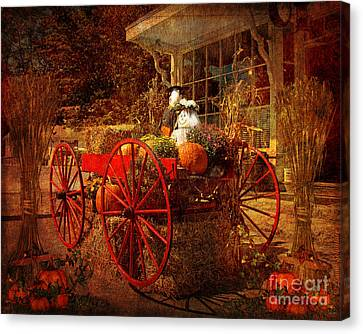 Produce Canvas Print - Autumn Harvest At Brewster General by Lianne Schneider