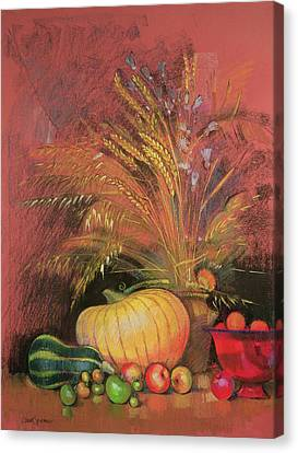 Festivities Canvas Print - Autumn Harvest by Claire Spencer