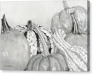 Realism Canvas Print - Autumn Harvest by Sarah Batalka