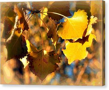 Autumn Hearts Canvas Print by Lisa Holland-Gillem
