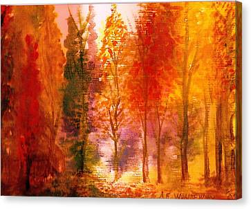 Autumn Hideaway Revisited Canvas Print by Anne-Elizabeth Whiteway