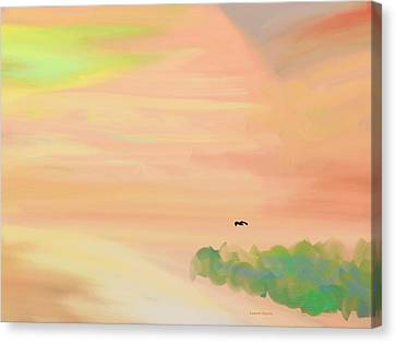 Autumn Hills Canvas Print by Lenore Senior