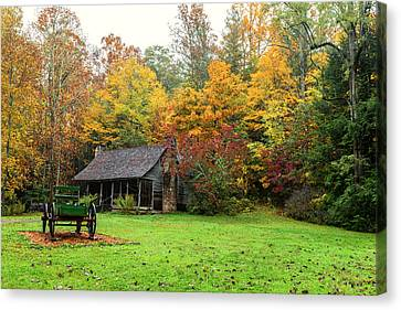 Autumn Home Canvas Print by Andres Leon