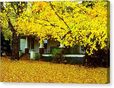 Canvas Print featuring the photograph Autumn Homestead by Rodney Lee Williams