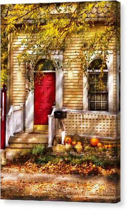 Autumn - House - A Hint Of Autumn  Canvas Print by Mike Savad