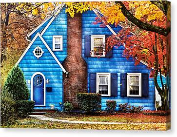 Autumn - House - Little Dream House  Canvas Print by Mike Savad