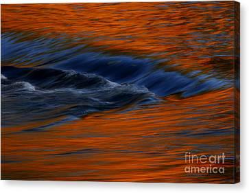 Canvas Print featuring the photograph  Autumn River by John F Tsumas