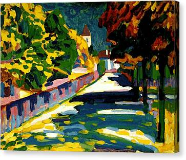 Autumn In Bavaria Canvas Print by Wassily Kandinsky