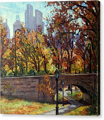 Autumn In Central Park Nyc.  Canvas Print