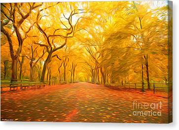 Finland Canvas Print - Autumn In Central Park by Veikko Suikkanen