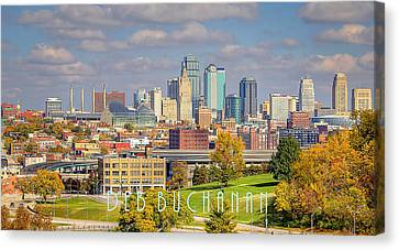 Autumn In Kansas City With Logo Canvas Print