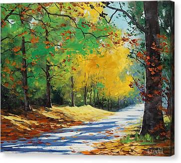 Autumn In Mt Wilson Canvas Print