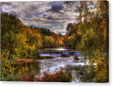 Autumn In New England - Contoocook Nh Canvas Print